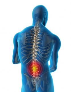 La spina dorsale in reparto di petto premendo crepiti su